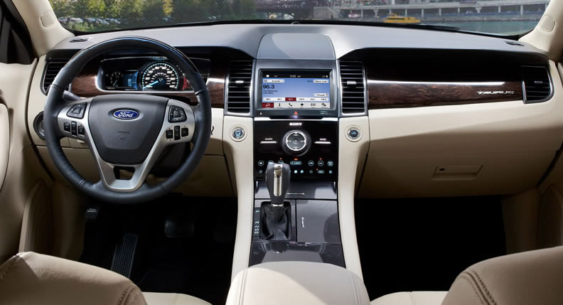 luxury interior of Ford Taurus