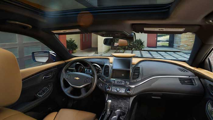 stylish interior of i Chevrolet Impala 2016