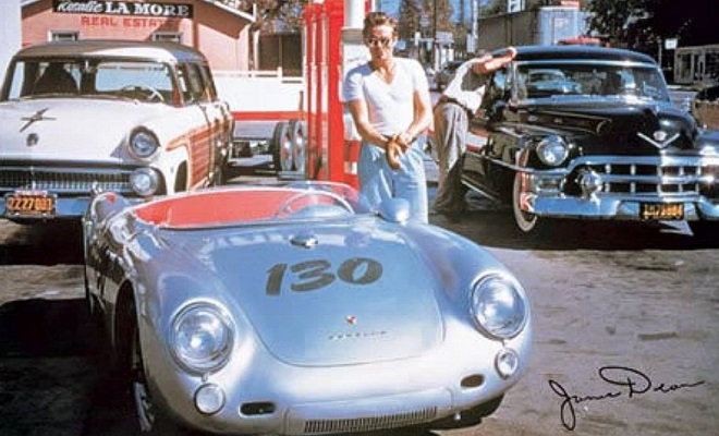 Celebrity car of James Dean Porsche 550 Spyder