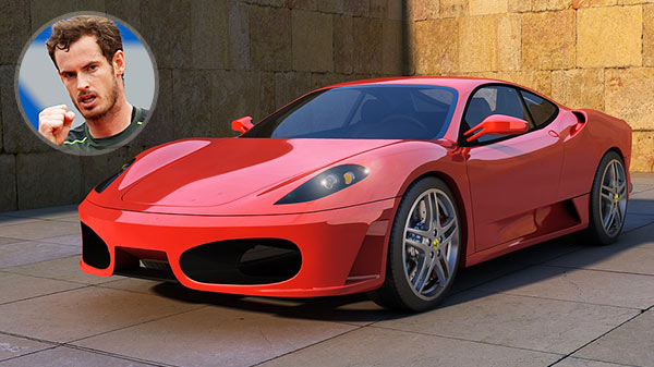 Andy Murray's Ferrari F430