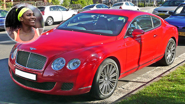 Serena Williams Red Bentley Continental