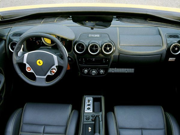 Interior of 2005 Ferrari F430 Spider