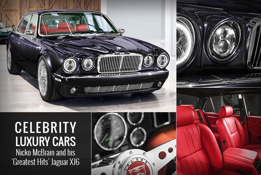 Celebrity Luxury Cars - Nicko McBrain and his 'Greatest Hits' Jaguar XJ6