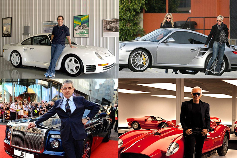 Celebrities with Amazing Car Collection